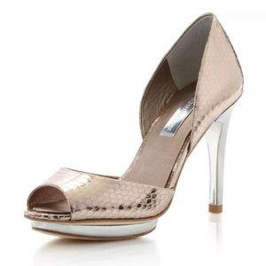 Leather BCBGMaxAzria platforms, stilettos, heels